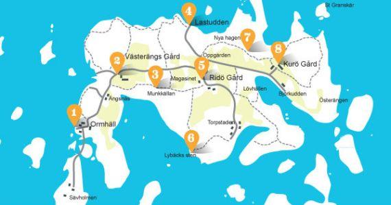 Karta över Ridön